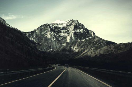 vue d'une montagne