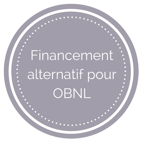 Badge financement alternatif OBNL