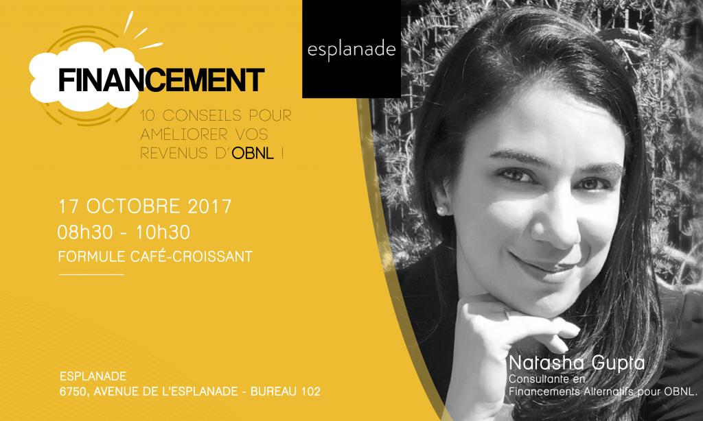 Conference OBNL - ESPLA - série Financement